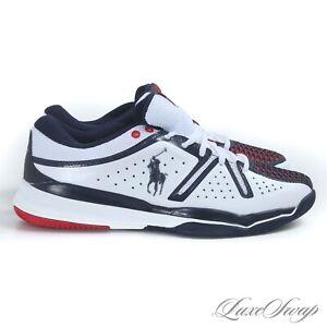 NIB Polo Ralph Lauren x New Balance MC851PL3 White Multi Leather Sneakers 8.5 NR