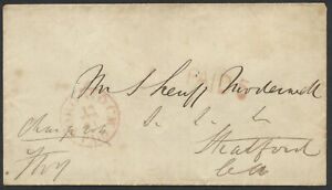1861 Stampless Cover, Toronto CW PAID ERD 13 DEC 61, PAID 5, to Stratford UC