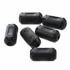 6 Pcs Clip On EMI RFI Noise Ferrite Core Filter for 4mm Cable R9W2