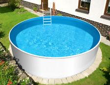 Stahlwand Pool 360 x 120 cm rund Schwimmbecken Swimmingpool Schwimmbad Rundpool