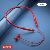 Lenovo Wireless Bluetooth Headphones Earbuds IPX5 Waterproof Neckband Headset