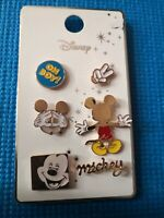 Disney Enamel Mickey Mouse Brand New Official 6 Pin Badge Set Oh boy!