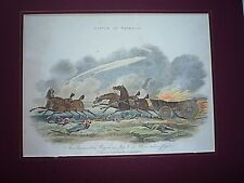 "ANTIQUE PRINT DATED 1816."" AN AMMUNITION WAGON, WATERLOO ""  RARE."