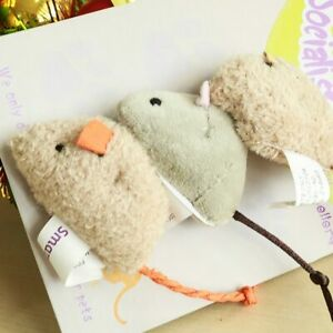 Simulated High Quality Pet Cat Toy Bite-resistant Toys Plush Little Mouse Props