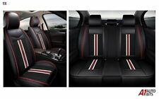 Black PU Leather & Fabric Full Set Seat Covers For Ford Focus Fiesta Kuga C-Max