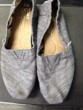 TOMS Classic Slip On Canvas Flats Shoes light Blue Denim Womens Size US 7.5