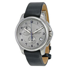 NEW VICTORINOX SWISS ARMY MEN'S CHRONOGRAPH STAINLESS STEEL LEATHER WATCH 241553