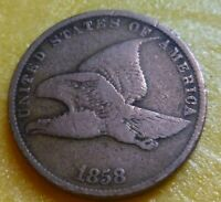1858 SL Flying Eagle  Cent  Coin  #58SL