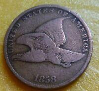 1858 SL Flying Eagle  Cent  Coin  #58SL