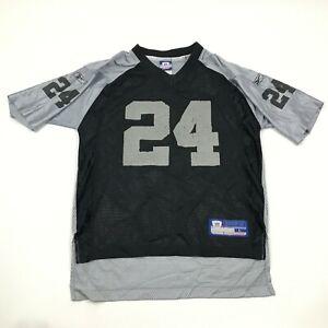 VINTAGE Reebok Charles Woodson Oakland Raiders Football Jersey Youth Size Large