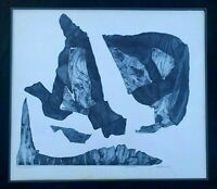 AHUVAH DUSHEY ABSTRACT INTAGLIO ETCHING SPACE SERIES THE ENCOUNTER ARTIST PROOF