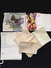 Job Lot Of Embroidery Pieces And Embroidery Cottons