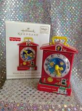 2010 HALLMARK ORNAMENT FISHER PRICE MUSIC BOX TEACHING CLOCK SCHOOL SOUND MOTION