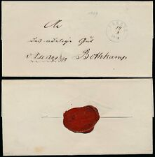 GERMANY 1849 OFFICIAL SEAL PREETZ WRAPPER to BOTHKAMP