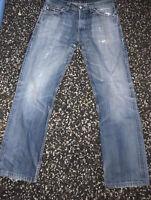 Levi's 506 Mens Regular Straight Fit Jeans Vintage Blue Levi W33 L32