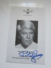 PETER GRAVES Handbill for honorary award AUTOGRAPHED