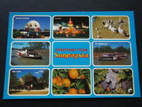 GREETINGS FROM SUNRAYSIA 8 COLOURFUL VIEWS VICTORIA POSTCARD