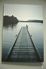 Jetty Over Lake / Water Canvas Art / Printed Canvas Picture / Image / Water
