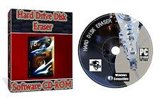 Erase wipe format delete hard drive Eraser CD for PC & laptop computer + Extras
