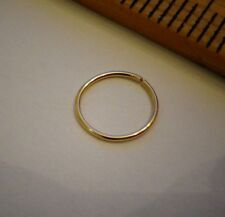 Nose Ring /Cuff 14k SOLID Gold Small 24g Hoop Cartilage Helix Tragus Earring