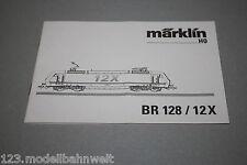 Märklin Betriebsanleitung Elok Baureihe 128 / 12X DB Spur H0