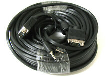 50' FT SVGA Super VGA M Male to Male Cable with 3.5mm Audio for Monitor TV 50FT