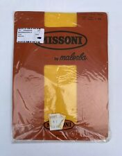 VINTAGE MISSONI BY MALERBA YELLOW LACE TIGHTS PANTYHOSE NEW IN PACKAGING SIZE XS