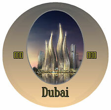DUBAI - ROUND SOUVENIR NOVELTY FRIDGE MAGNET - BRAND NEW / SIGHTS / GIFTS