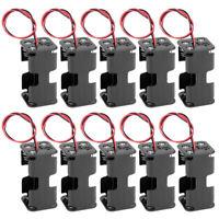 6V Battery Holder Shell Storage Box 4 x 1.5V AA  Batteries Route Leads 10Pcs