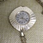 Vintage Square Timex Pendant Watch Wind Up Gold Tone