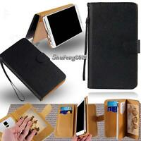 Leather Stand Flip Wallet Cover Phone Case For Samsung Galaxy Core Models +Strap