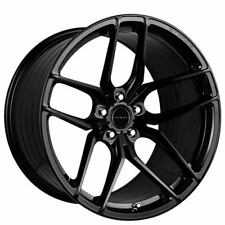 """4ea 20"""" Staggered Stance Wheels SF03 Gloss Black Rims (S7)"""
