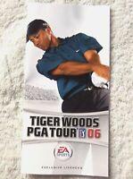 74165 Instruction Booklet - Tiger Woods PGA Tour 06 - Sony PSP (2005) ULES 00153