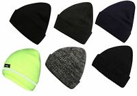 Mens Pro Climate Genuine Thinsulate Knitted Beanie Hat Plain, High Viz Or Marl