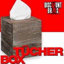NEU █ Kosmetiktücherbox TÜCHERBOX WÜRFEL Tücherspender aus Paulowniaholz Shabby