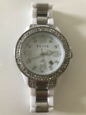 Elite Ladies Date Good Condition Working Quartz Watch