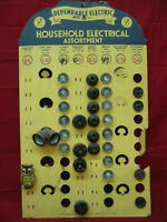 Vintage Dependable Electric Household Electrical Store Display Board