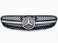 Front Grill Conversion For Mercedes Benz W209 CLK - 1 Fin Sport Mesh Grill Star