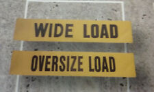 OVERSIZE & WIDE LOAD REVERSIBLE SAFETY VEHICLE ESCORT SIGN