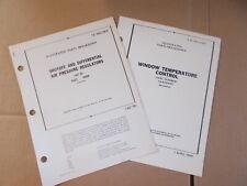Shuffoff Air Pressure Regulators & Window Temp Parts List Technical Orders 1955