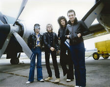 Queen classic 8x10 photographers photo in leather jackets posing by aircraft
