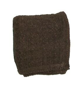 Circo Target Dark Brown Baby Blanket Chenille Cable Knit Rope Lovey