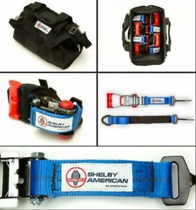 Shelby American Speed Wrap Ratchet Tie-Down Kit Ford Mustang F150 Raptor Bronco