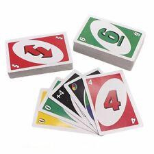 Uno completo 108 tarjetas Playing Game diversión clásica fiesta familia amigos de viaje niños