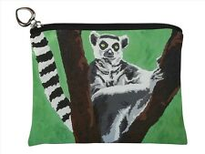 Lemur Change Purse, Coin Purse - From my Original Oil Painting, Sassy Socialite