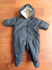 93ce888f5dc71f BURBERRY BABY BOYS NAVY BLUE SNOWSUIT PRAM SUIT ALL IN ONE 1 MONTH
