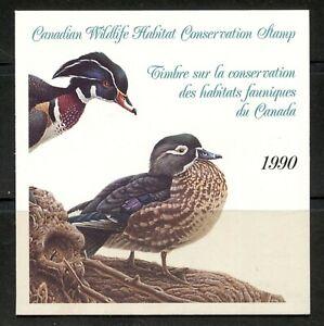 CANADA 1990, BIRDS, FEDERAL WILDLIFE HABITAT CONSERV. Scott FWH6, BOOKLET, MNH
