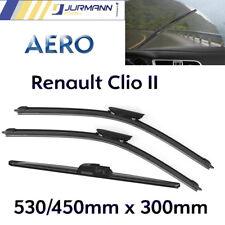 3er Komplett-Set Aero Scheibenwischer Vorne 530/450 & Hinten 300 Renault Clio II