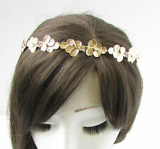 Gold Silver Leaf Headband Headdress Grecian Vintage Headpiece Silver Bridal 6AQ