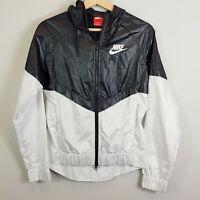 NIKE   Womens Windrunner zip Jacket Black & White [ Size XS or AU 8 / US 4 ]